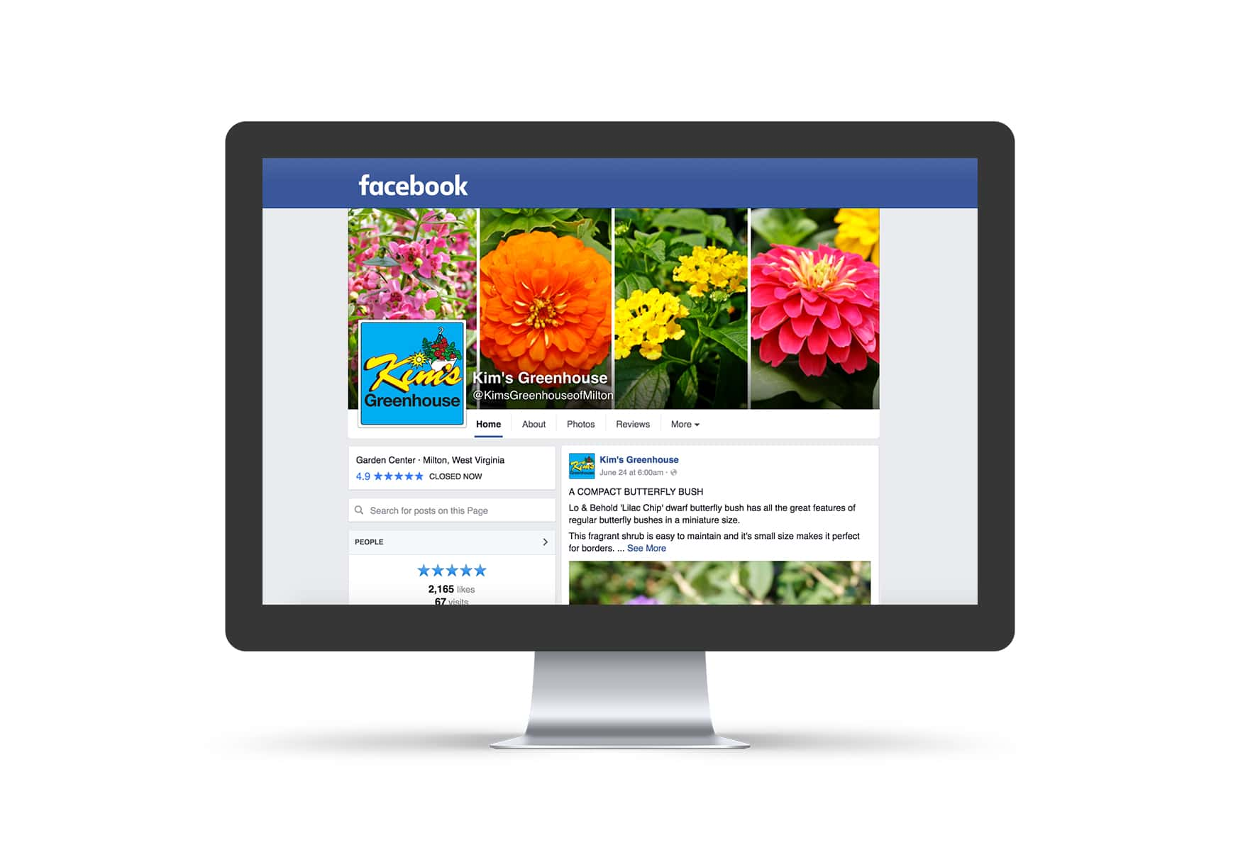 Social Media Marketing - Kim's Greenhouse