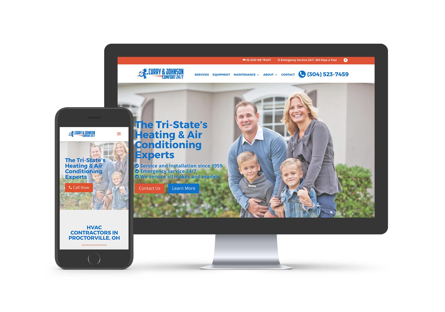 Website Design - Curry and Johnson Heating and Air Conditioning