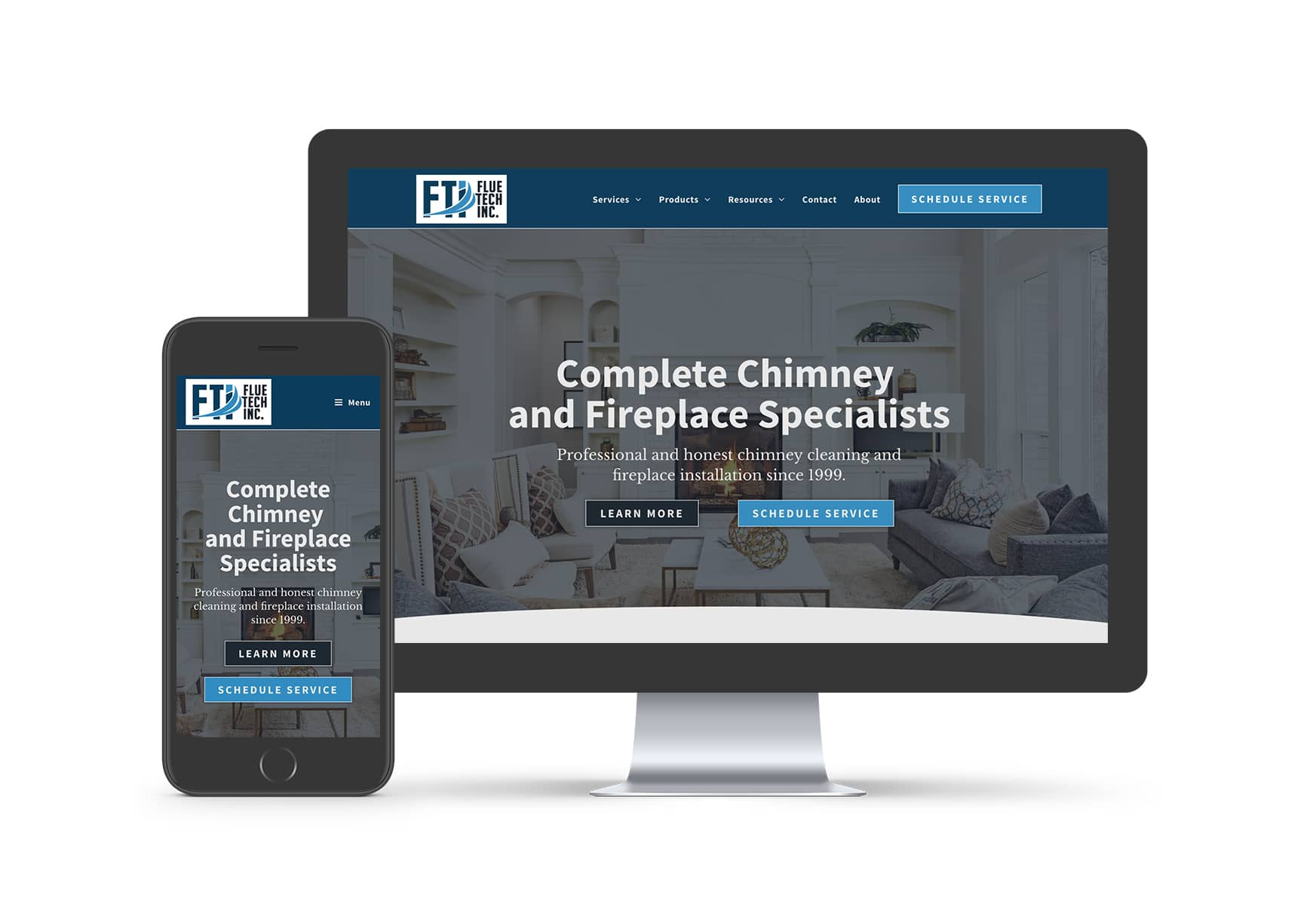 Website Design - Flue Tech Inc.