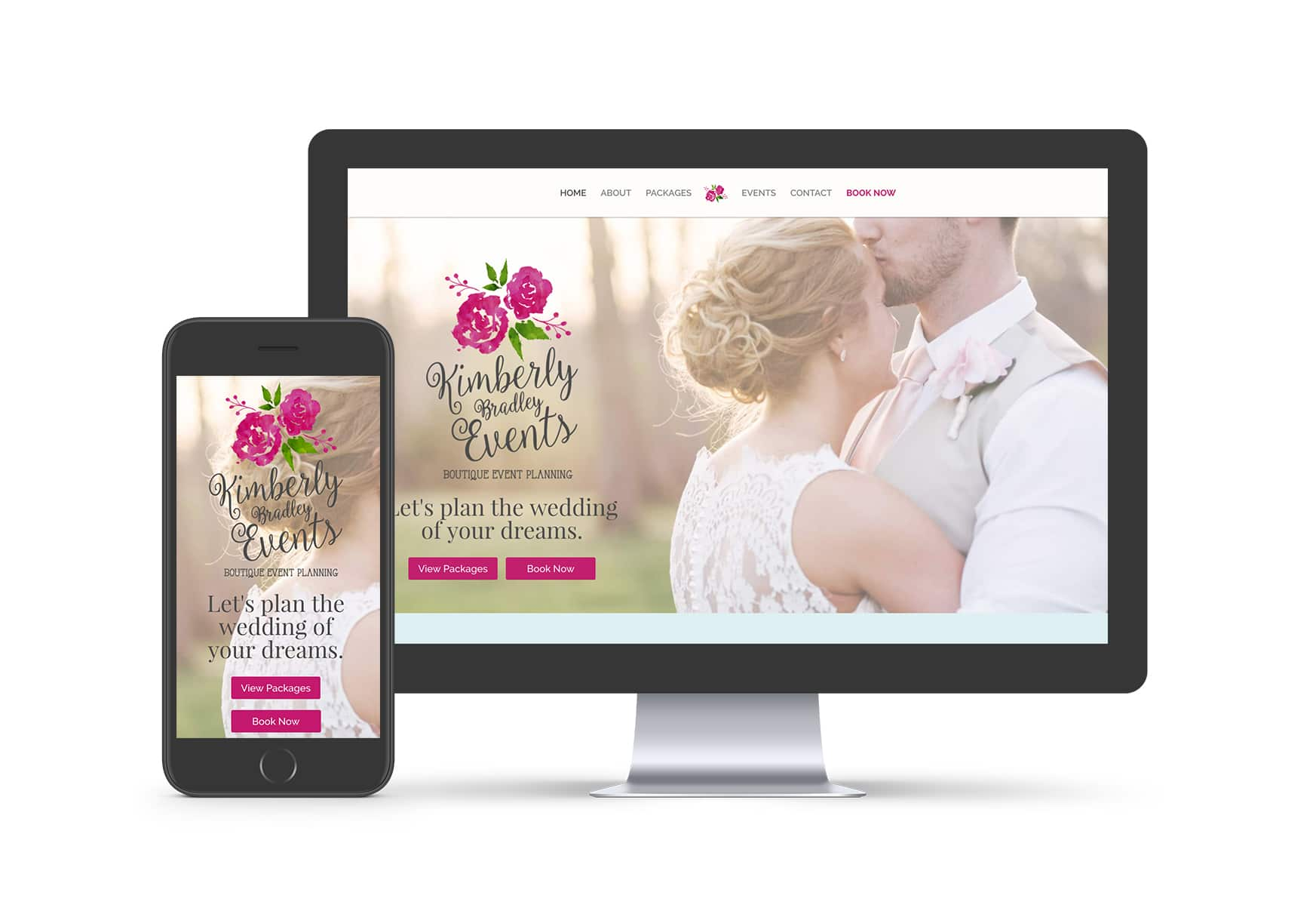 Website Design - Kimberly Bradley Events