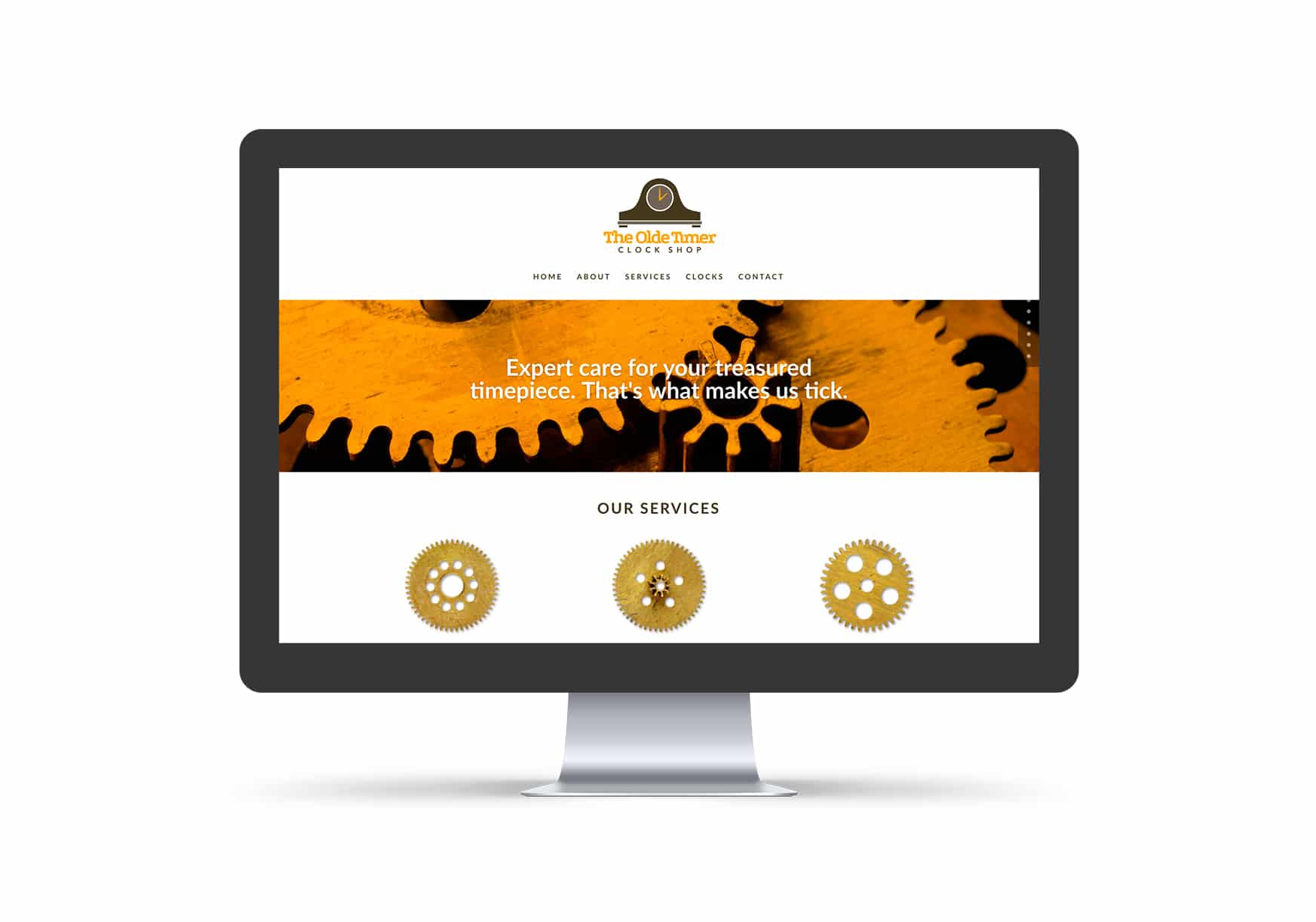 Website Design - Olde Timer Clock Shop